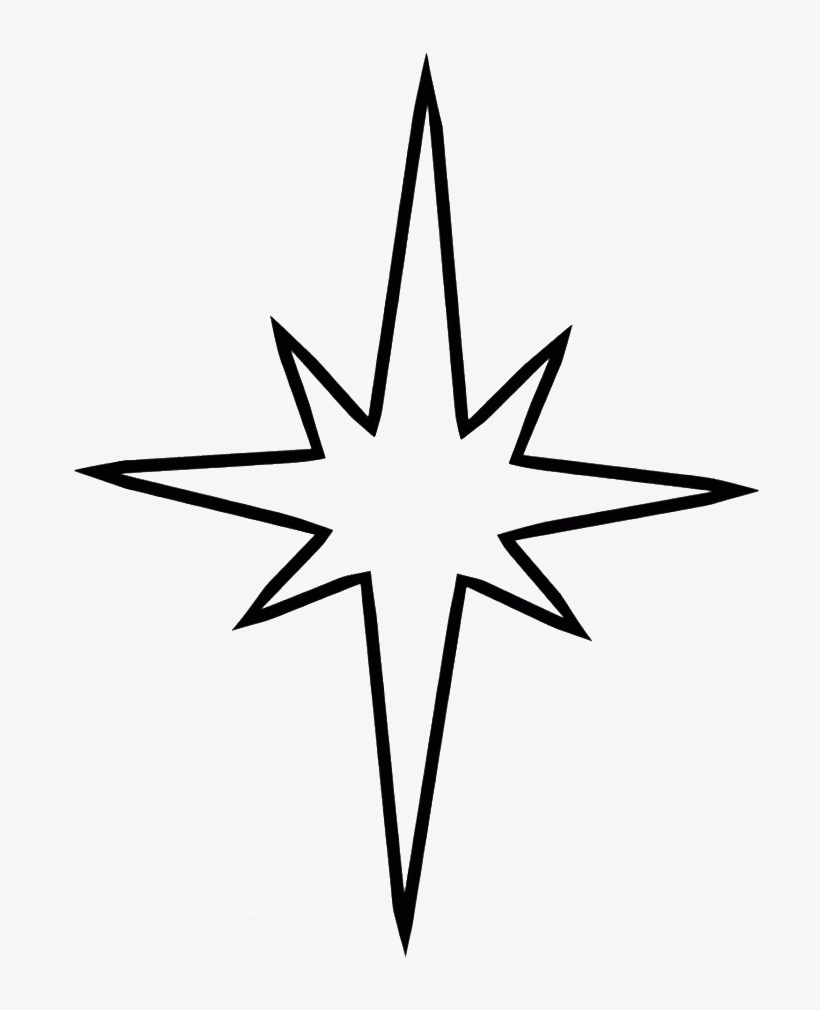 Svg Free Library Christmas Star Clipart Black And White - Stars Drawing