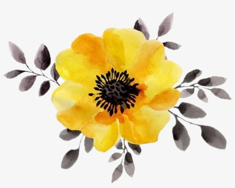 Yellow Flower Aesthetic Yellowaesthetic Yellow Watercolor