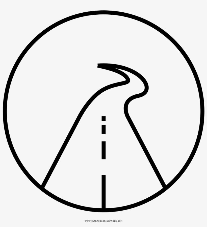 La Carretera Página Para Colorear Line Art Transparent Png