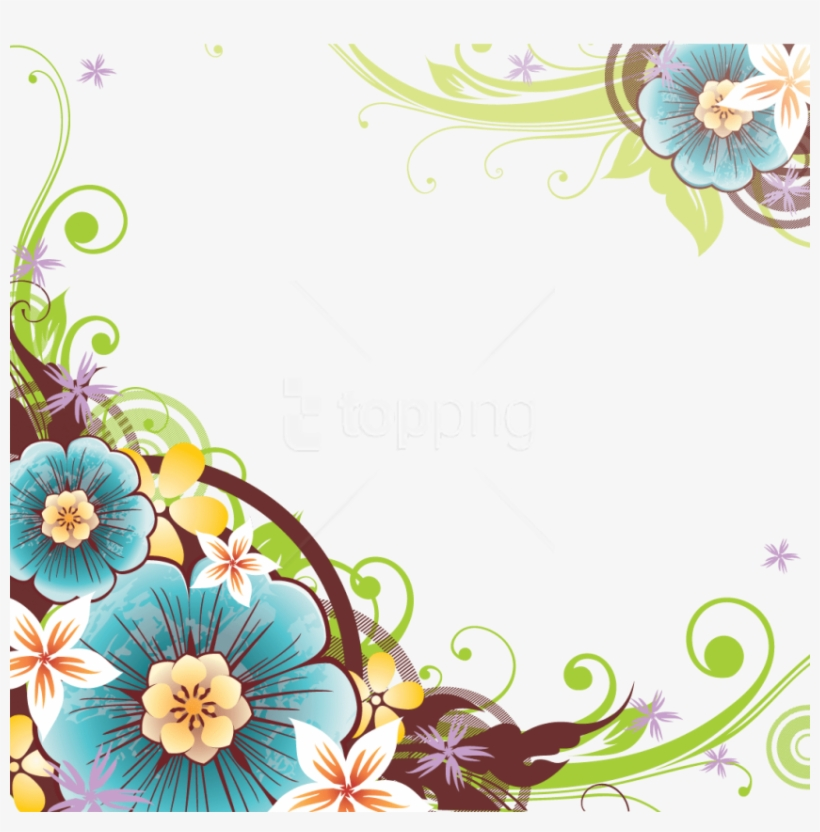 Free Png Flowers Borders Png Flower Border Design Png