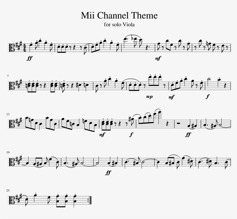 Mii Channel Theme - Havana Trumpet Sheet Music Transparent PNG