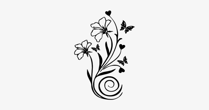 Cor Do Fundo Desenhos De Flores Para Parede Transparent
