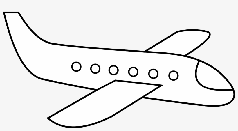 Free Airplane Clip Art Acoloring Simple Picture Of A Plane