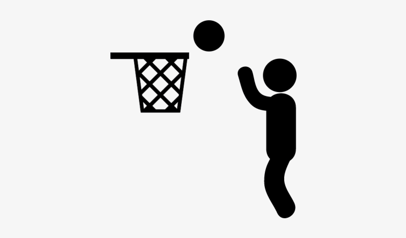 Man Playing Basketball Vector - Basketball Icon Png