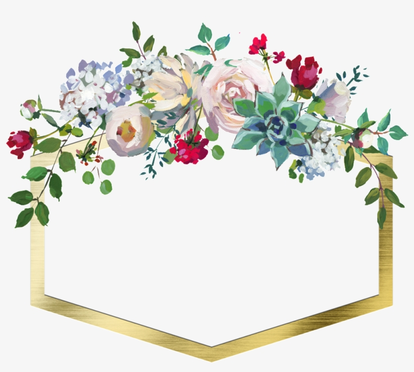 Hand Drawn Geometric Frame Flower Png Transparent Pastel Flower