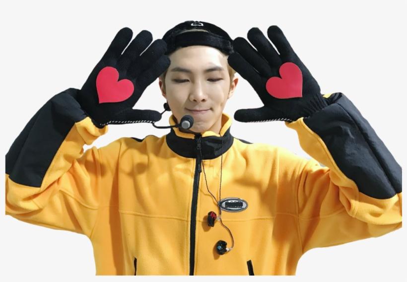 Namjoon Bts Rm Kpop Boy Cute Heart Bts Go Go Rm Transparent Png