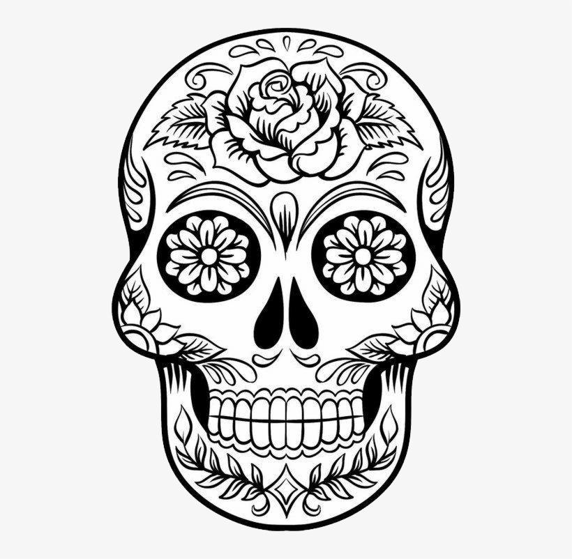 Download Hd Skull Png Desenho De Caveira Mexicana Transparent