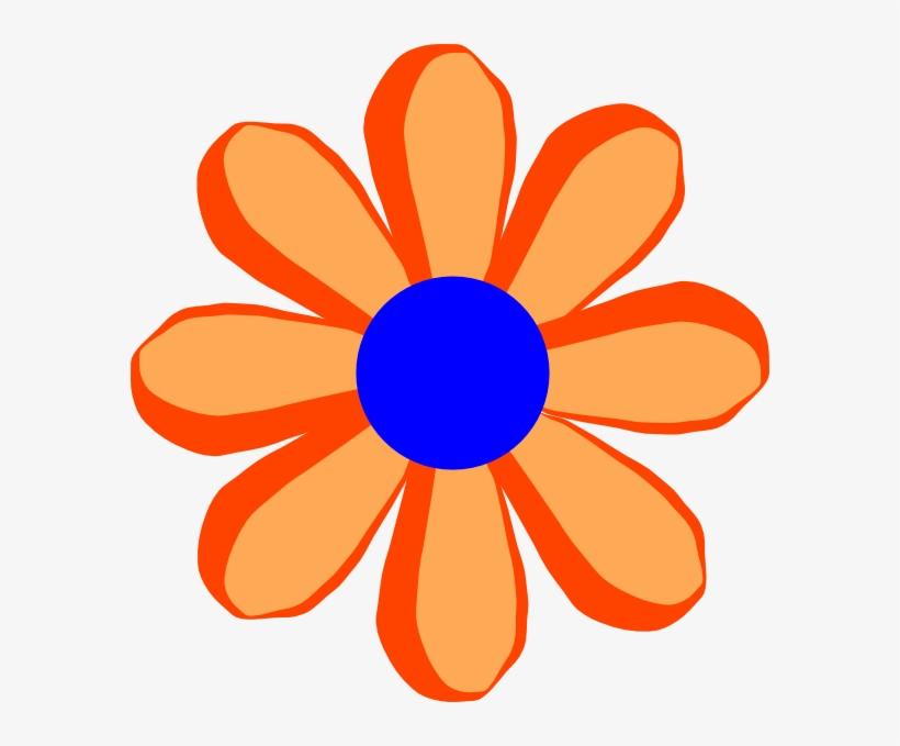 Orange Flower Clipart Tiny Flower Orange Cartoon Flowers Transparent Png 582x599 Free Download On Nicepng