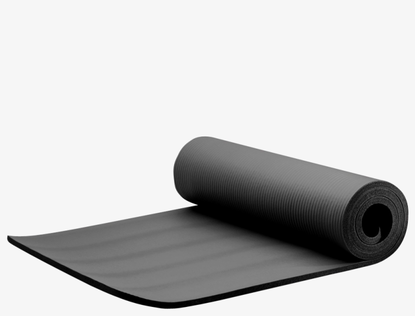 Extra Thick Exercise Yoga Mat With Carry Strap 3 Exercise Mat Transparent Png 1000x1000 Free Download On Nicepng