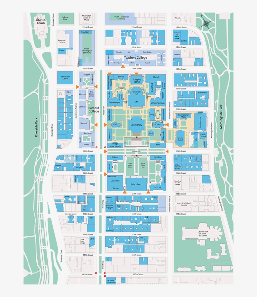 View A Map Of Columbia Law School And The Surrounding ...