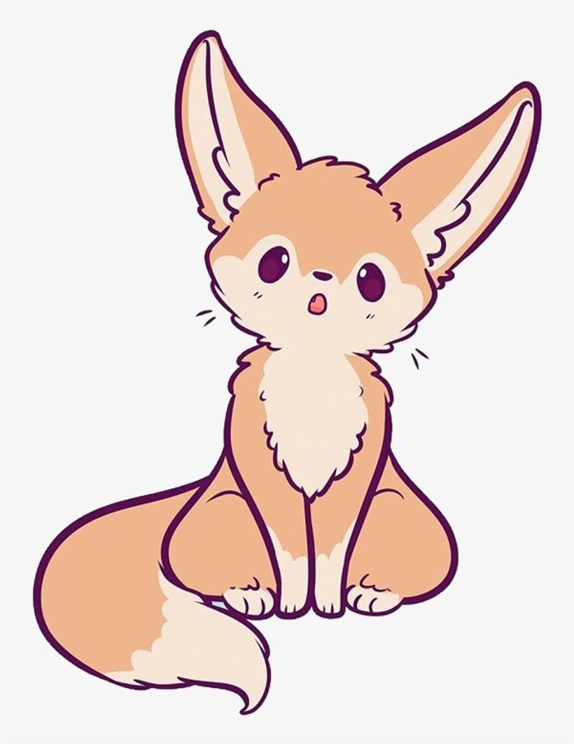 Fennecfox Sticker Chibi Fennec Fox Drawing Transparent Png