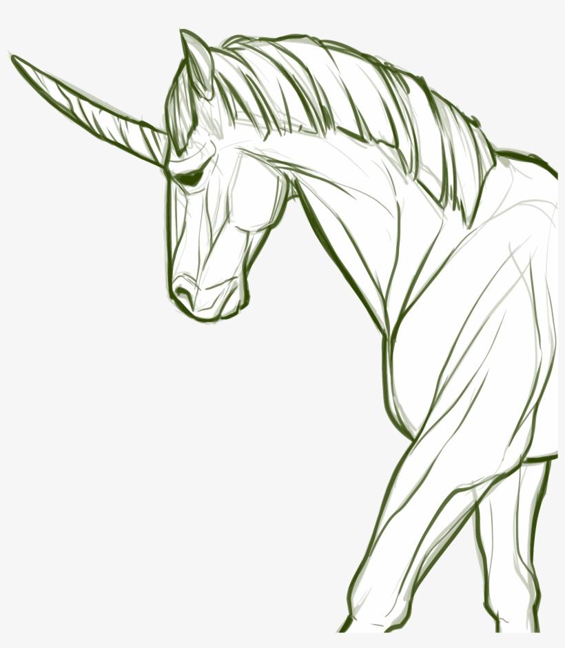Big Image Unicornio Dibujo A Lapiz Transparent Png 1979x2174