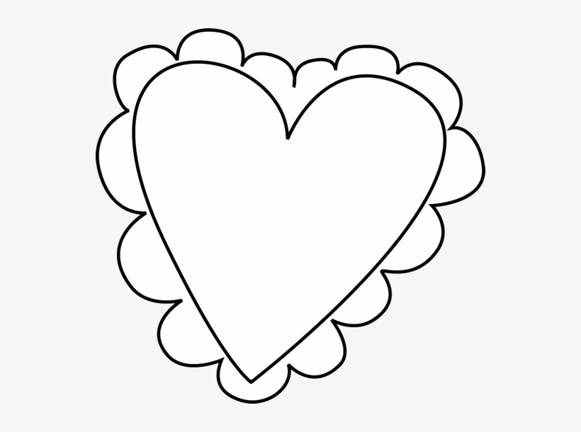 Clipart Heart Black And White Real Heart Clipart Black