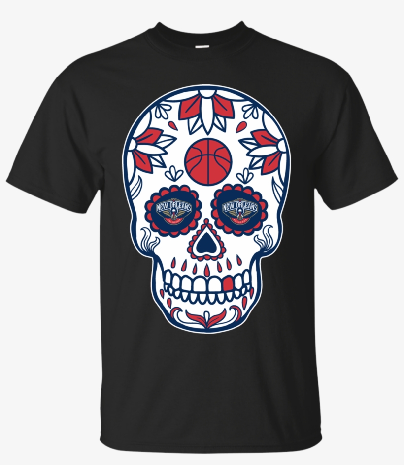 New Orleans Pelicans Basketball Sugar Skull Day Of Rick