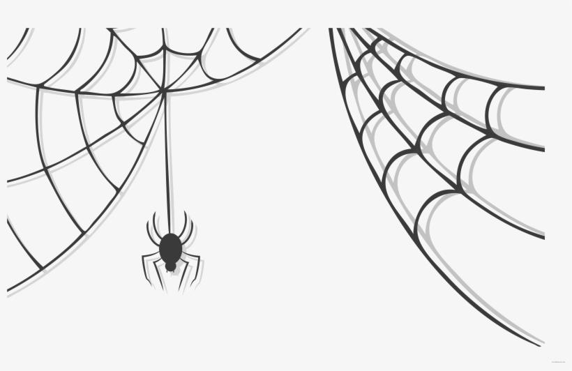 Spider web transparent background. Cobwebs spooky halloween clipart