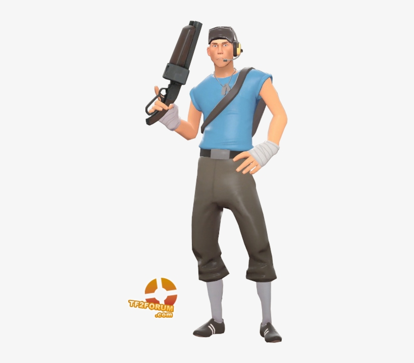 Blu Scout Team Fortress 2 Scout Blue Transparent Png 330x659 Free Download On Nicepng