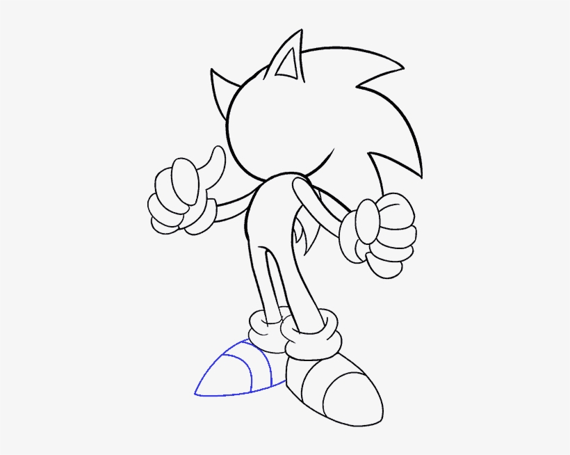 How To Draw Sonic The Hedgehog Draw A Real Sonic Transparent Png 678x600 Free Download On Nicepng