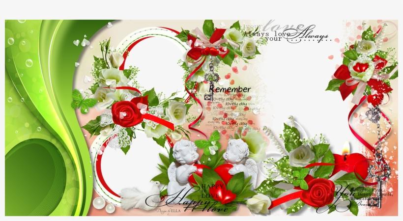 Wedding Love Frame Photoshop Png - Garden Roses Transparent