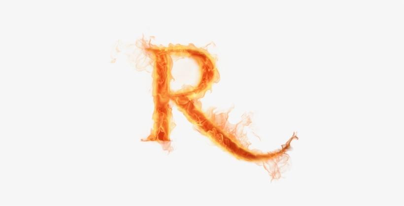 Burning Letter R Psd26679 Fire Letter R Png Transparent Png