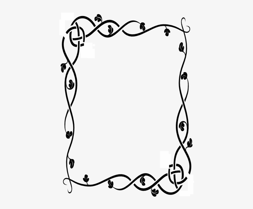 f80fbc7ec Western Border Clip Art Free Vector Tattoo Designs - Simple Page Borders To  Draw
