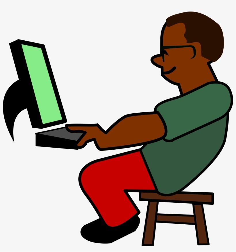 Hacker Clipart Cartoon Computer Programmer Clipart Transparent Png
