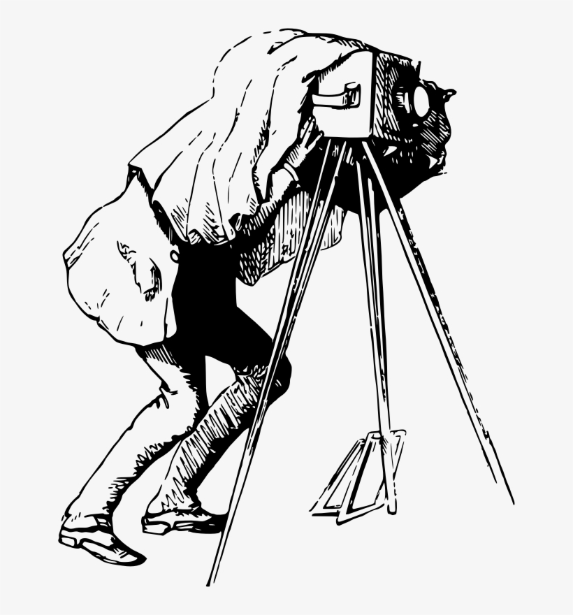 Drawing Photographer Camera Line Art