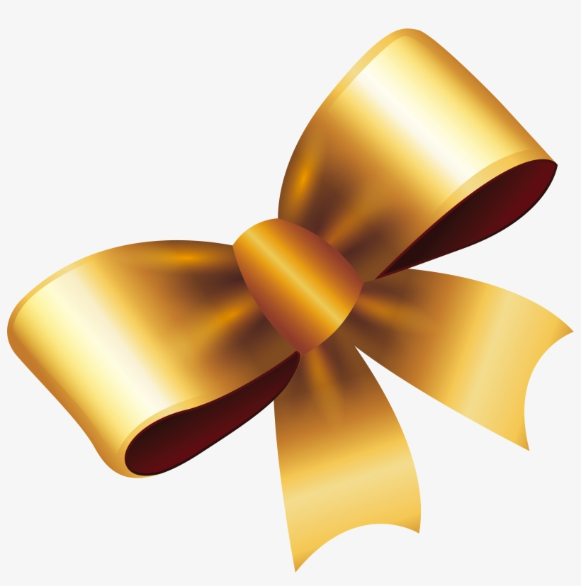 Gold Gift Bow Png Svg Royalty Free Download Laco Dourado Em Png