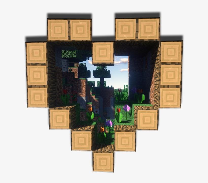 a Cute Transparent Minecraft Heart For