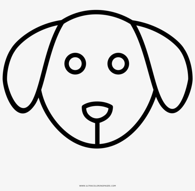 Dog Face Coloring Page Cara De Perro Para Pintar Transparent Png