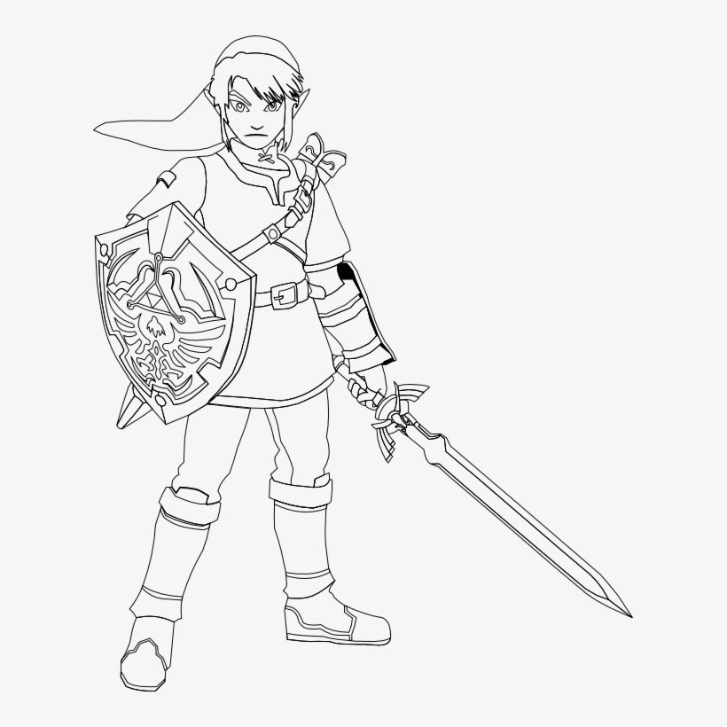 Master Sword Coloring Pages 5 By Erica Legend Of Zelda Link Coloring Pages Transparent Png 609x740 Free Download On Nicepng