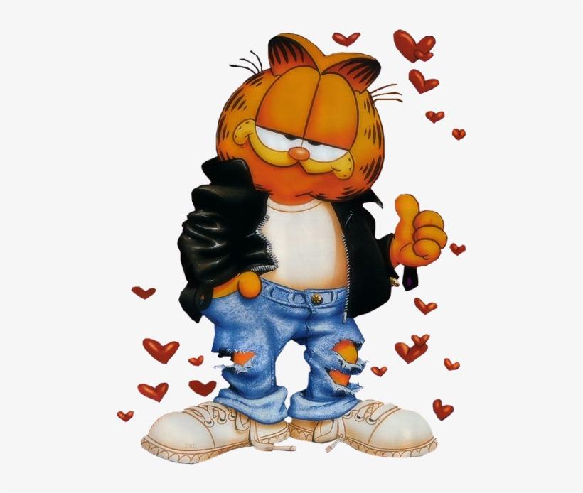 Garfield040 Garfield Con Frases De Amor Transparent Png