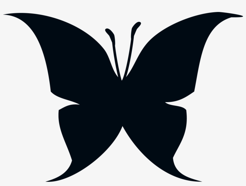 Butterfly Silhouette Set Different Clipart Shadow Butterfly
