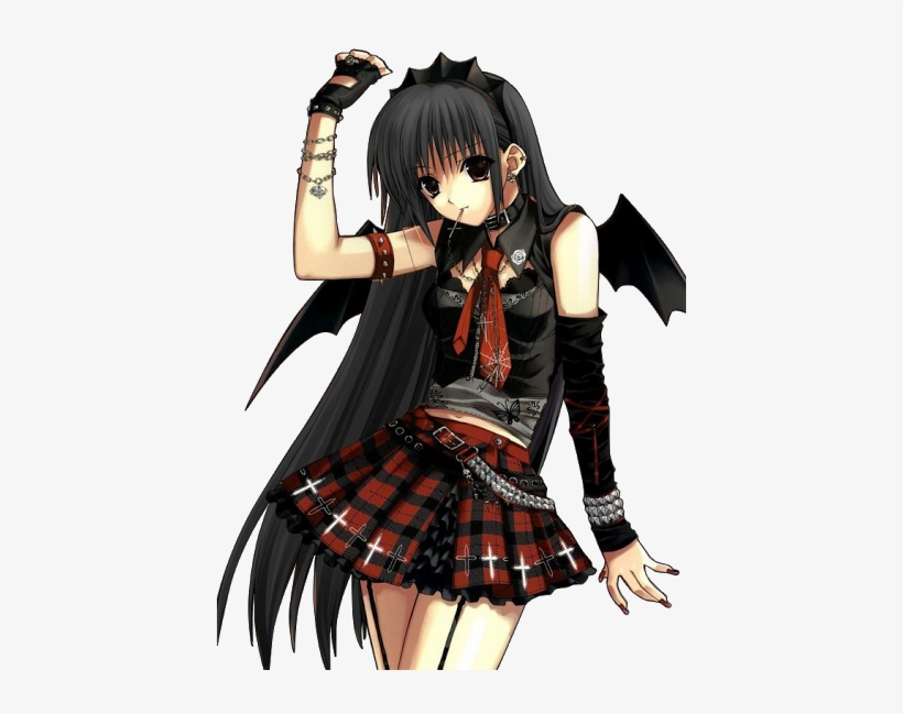 Anime Vampire Girl With Wings Vampire Anime Girl Png Transparent Png 426x569 Free Download On Nicepng