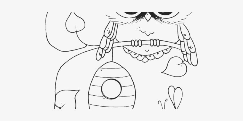Marvellous Design Cute Owl Coloring Pages With Bees Coloring Book Transparent Png 585x329 Free Download On Nicepng