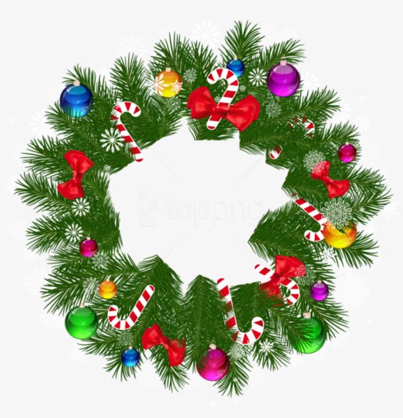 Christmas wreath plain. Free png images transparent