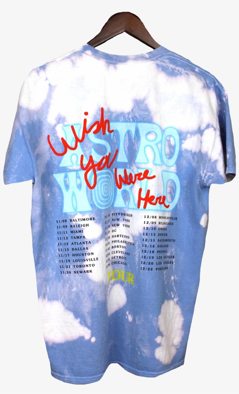 ab6c8b11e084 Travis Scott Astroworld No Bystanders Blue Acid T-shirt - Travis Scott No  Bystanders Shirt