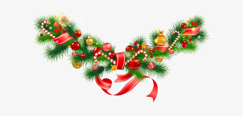 Christmas Garland Clipart Transparent Png 600x312 Free Download
