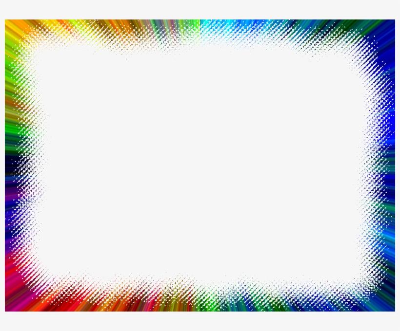 Cool Border Frame - Rainbow Frame Png Transparent PNG