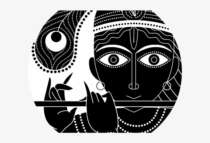 981 9819027 krishna clipart vishnu god black and white radha