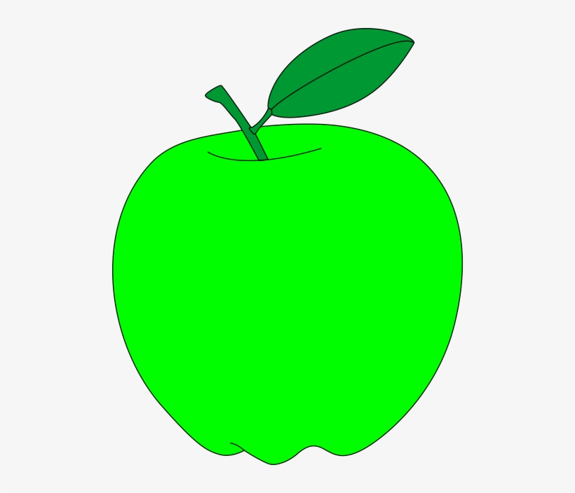 Green Apple With Green Leaf Free Vector Clipart Clipart Apple Green Transparent Png 500x624 Free Download On Nicepng