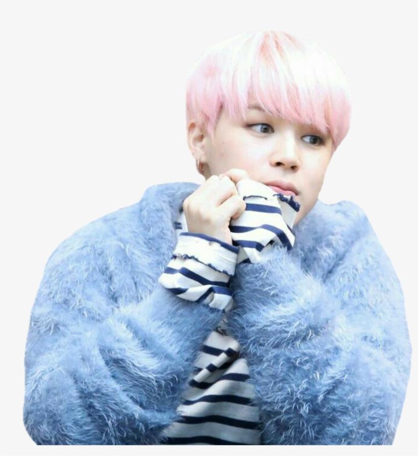 Jimin Sticker - Jimin Pink Hair Png Transparent PNG - 1024x998