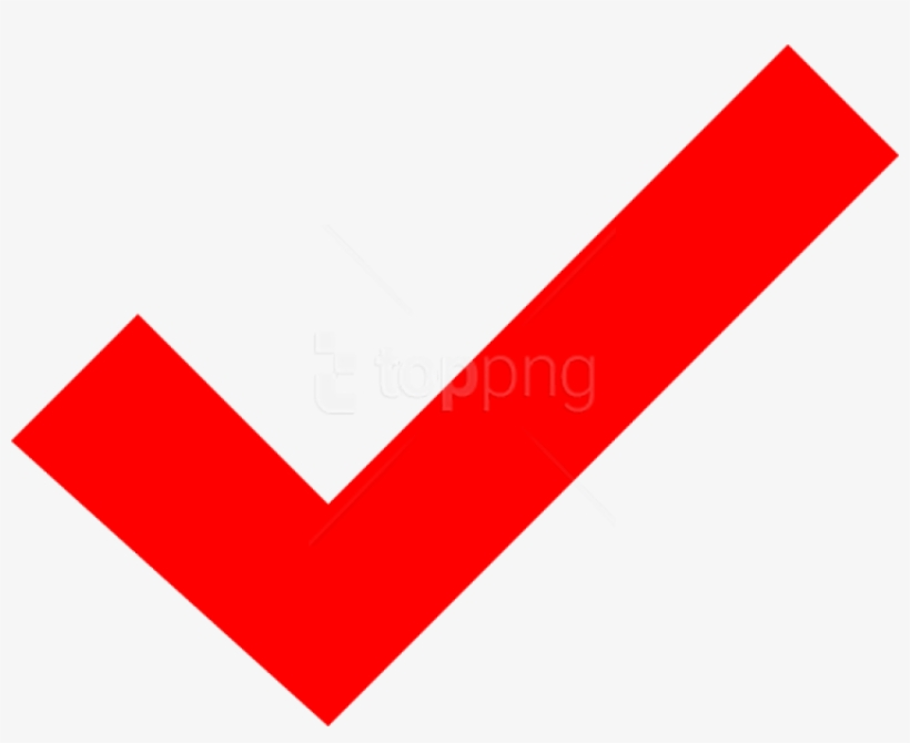 Free Png Check Mark Png Png Image With Transparent - Red