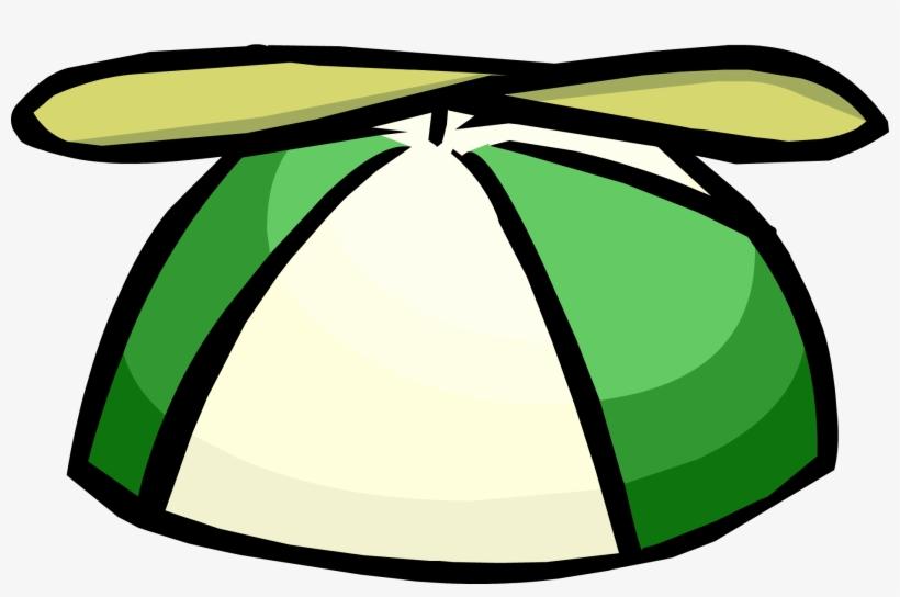 514d1d19dbbb9 Green Propeller Cap - Club Penguin Green Propeller Hat Transparent ...