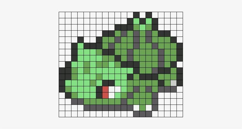 Bulbasaur Sprite Perler Bead Pattern Bead Sprite Shiny