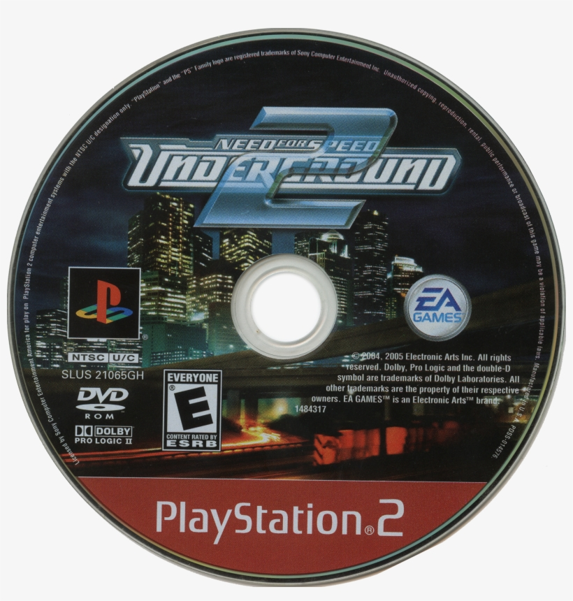 Need For Speed Nfs Underground 2 Disc Transparent Png