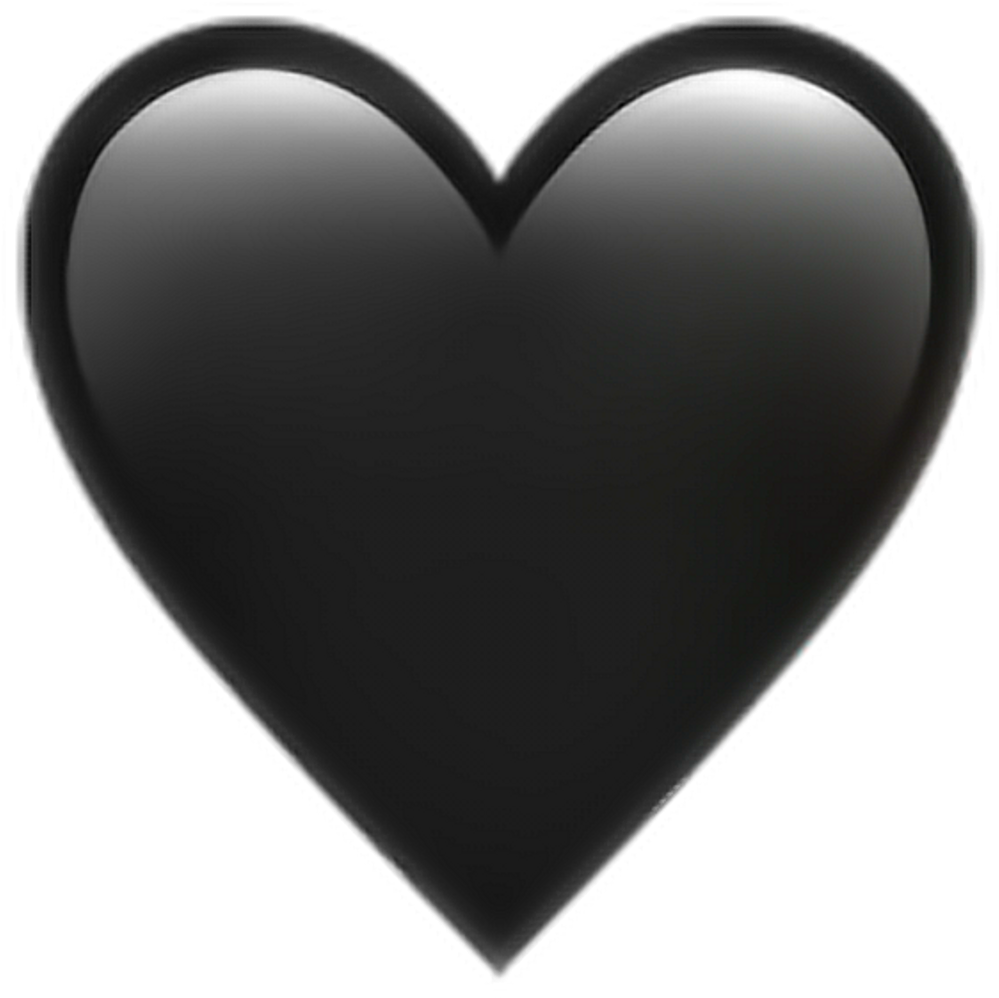 Download Hd Black Heart Transparent Background Png Transparent