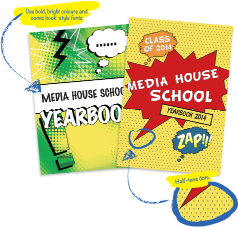Comic Book Style Yearbook Covers
