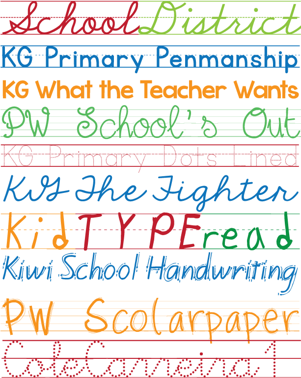 Download HD Favorite Free Fonts - Primary School Fonts Transparent