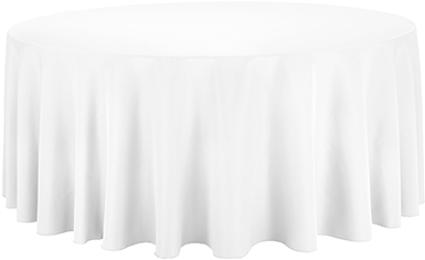 Round Table White Tablecloth Png, White Tablecloth Round 1080p