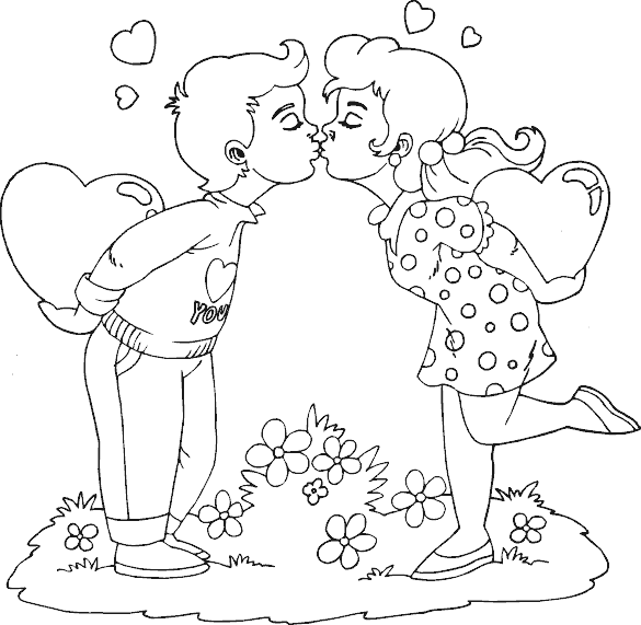 Download Hd Image Result For Hershey Kiss Coloring Pages Girl And Boy Kissing Png Transparent Png Image Nicepng Com